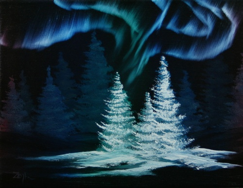 The Northern Lights Have Been The Subject For So Many Artistu0027s Paintings!  After Visiting Alaska This Year It Is Now The Subject Of One Of My Paintings .